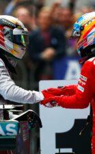 Alonso congratulates Hamilton after win