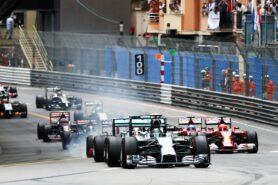 Start of the 2014 Monaco F1 GP