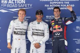 Top 3 qualifyers 2014 Spain: 1. Hamilton 2. Rosberg 3. Ricciardo