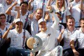 Williams team celebration after podium in Austria