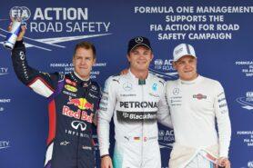 top 3 qualifyers: 1. Rosberg 2. Vettel 3. Bottas