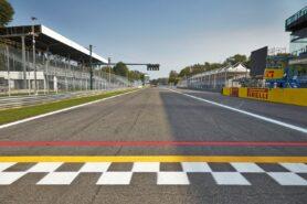 Main straight Monza circuit