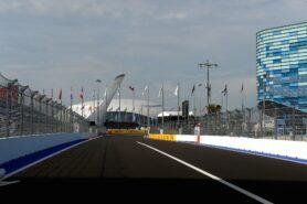 Straight after start finish of Sochi circuit