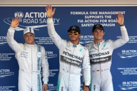 Top 3 qualifiers 2014 Russia: 1. Hamilton 2. Rosberg 3. Bottas