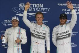 Top 3 qualifiers 2014 Brazil: !. Rosberg 2. Hamilton 3. Bottas