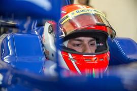 Felipe Nasr in his car