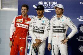 Top qualifiers 2015 Bahrain GP: 1. Hamilton 2. Vettel 3. Rosberg