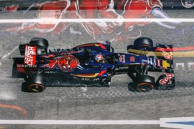 Max Verstappen driving his STR10