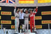 2015 Spanish GP podium: 1. Rosberg 2. Hamilton 3. Vettel