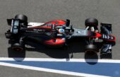 Fernando Alonso driving the McLaren MP4-30 (2015)
