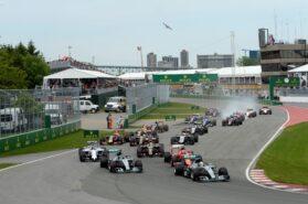 Start of 2015 Canadian F1 GP