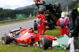Crashed Ferrari of Raikkonen