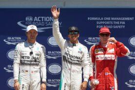 Top 3 qualifiers 2015 Monaco F1 GP: 1. Hamilton 2. Rosberg 3. Raikkonen