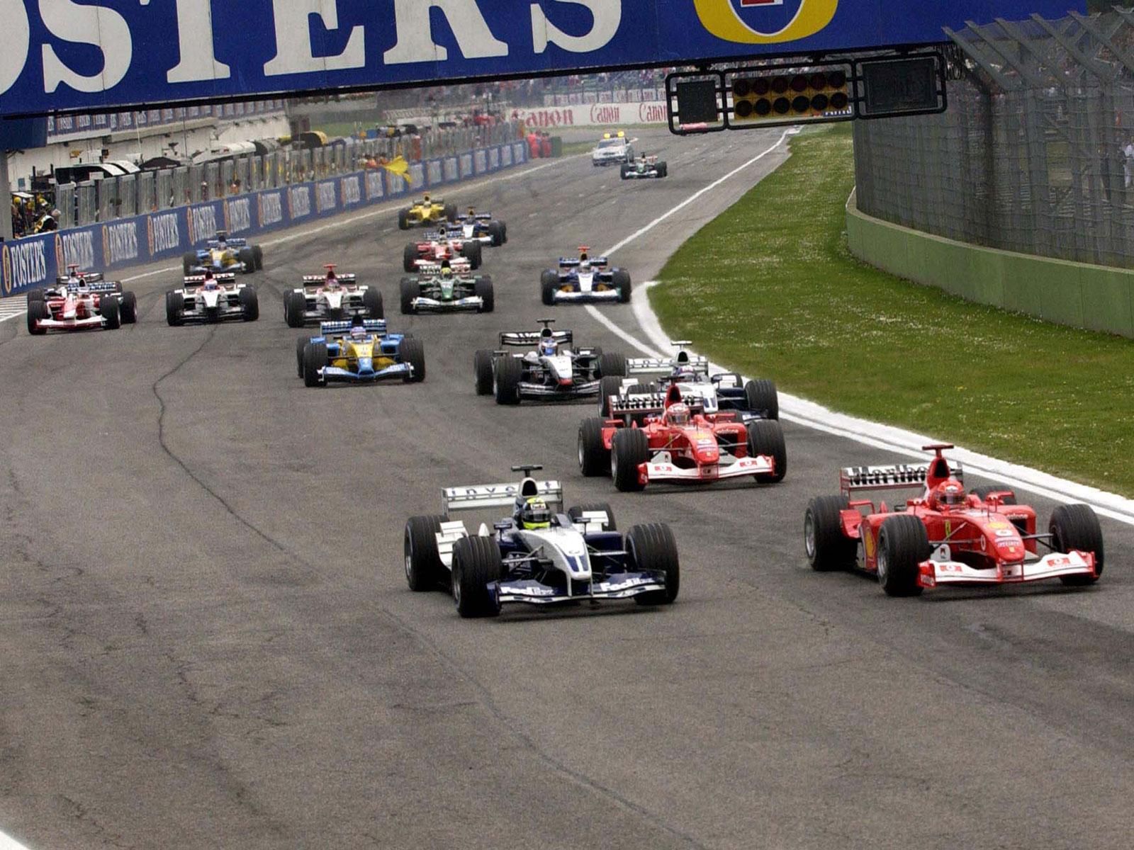 Start of 2003 San Marino F1 GP on Imola