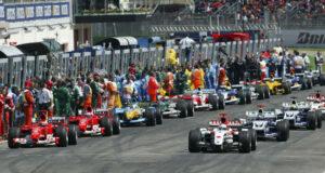 Start grid 2004 San Marino F1 GP on Imola