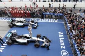 Lewis Hamilton wins for Mercedes