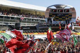 Felipe Massa, Williams F1, 3rd Position, celebrates as he arrives on the podium.
