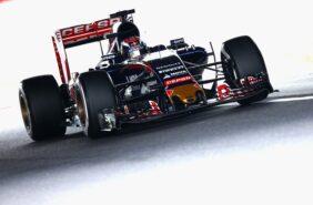 Max Verstappen driving the Scuderia Toro Rosso STR10 Renault