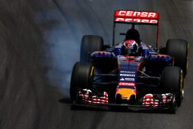 Max Verstappen of Netherlands and Scuderia Toro Rosso locks up during the Formula One Grand Prix of Brazil at Autodromo Jose Carlos Pace on November 15, 2015 in Sao Paulo, Brazil. (Photo by Clive Mason/Getty Images)