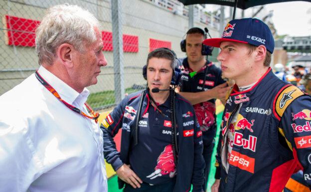 Helmut Marko with Max Verstappen
