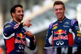 Daniel Ricciardo and Daniil Kvyat