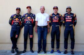 Daniel Ricciardo , Daniil Kvyat, Helmut Marko, Max Verstappen and Carlos Sainz