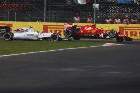Raikkonenen and Bottas collide