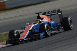 Pascal Wehrlein driving the Manor MRT05