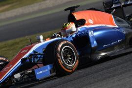 Rio Haryanto driving the Manor MRT05