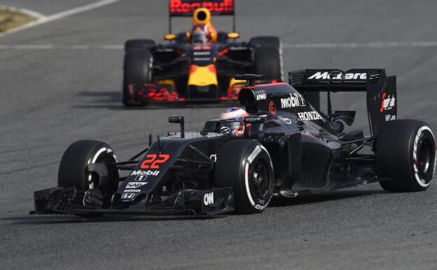 Jenson Button driving the McLaren MP4-31