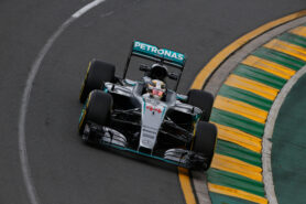 Lewis Hamilton driving the Mercedes W07