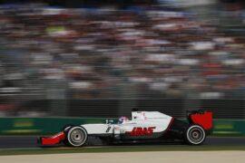 Romain Grosjean, Haas VF-16 racing in Australia