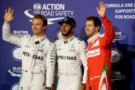 Top 3 qualifiers 2016 Bahrain: 1. Hamilton 2. Rosberg 3. Vettel