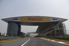 Mainstraight of the Shanghai international circuit