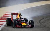 Daniil Kvyat, Red Bull RB12 locking up his right front