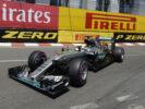 Lewis Hamilton driving his Mercedes W07 at Monaco