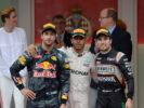 2016 Monaco podium: 1. Hamilton, 2. Ricciardo, 3. Perez