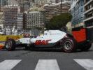Esteban Gutierrez driving his Haas VF-16 at Monaco