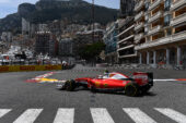 Sebastian Vettel dirving his Ferrari SF16-H at Monaco