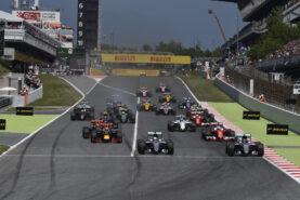 Start of the 2016 Spanish F1 GP