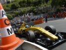 Jolyon Palmer driving his Renault RS16 at Monaco