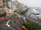 Kevin Magnussen driving his Renault RS16 at Monaco