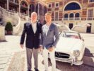 Monaco Prince Rainier with Nico Rosberg