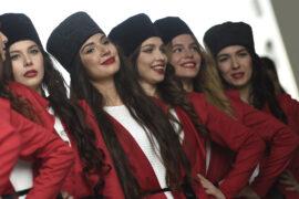 Russian F1 grid girls