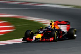 Max Verstappen of the Netherlands driving the (33) Red Bull Racing Red Bull-TAG Heuer RB12 TAG Heuer