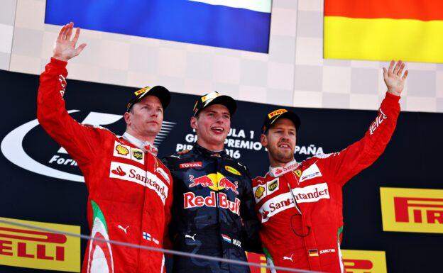 Top 3 of the 2016 Spanish F1 GP: 1. Verstappen 2. Raikkonen 3. Vettel