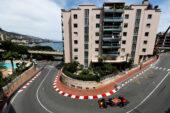 Daniel Ricciardo driving the Red Bull Racing Red Bull-TAG Heuer RB12 in Monaco