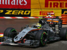 Sergio Perez driving his Force India VJM09 at Monaco