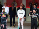 2016 Monaco podium: 1. Lewis Hamilton, Mercedes AMG F1, 2. Daniel Ricciardo,Red Bull Racing, 3. Sergio Perez, Sahara Force India F1