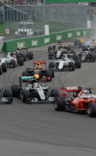 Start of the 2016 Canadian F1 GP